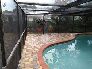 Pool Deck And Cage Cleaning After Palm Harbor