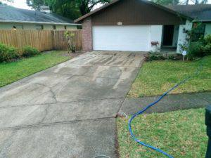 Driveway cleaning Carrollwood florida, before