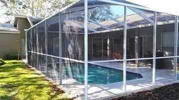 Clean pool cage. Palm Harbor