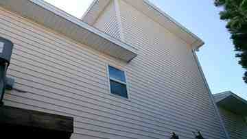 clean siding on a house