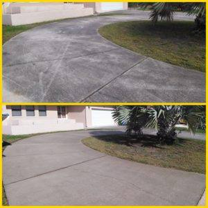 driveway-pressure washing-palm harbor-2-before and after