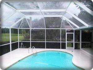 image of pool deck and enclosure