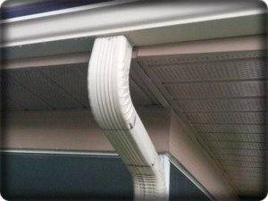 image of gutter and downspout