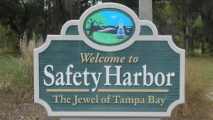 welcome to safety harbor sign